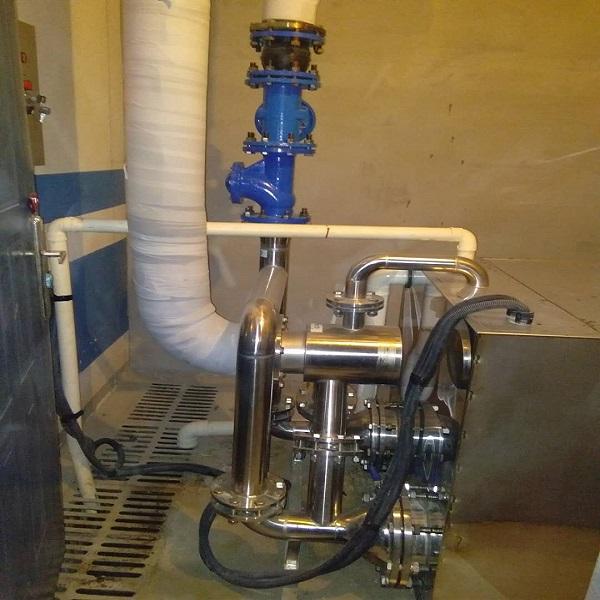 富地广场的GBST污水提升设备调试结束